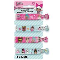 LOL SURPRISE PACK OF 4 HAIR TIES PARTY FAVOURS NEW GIFT