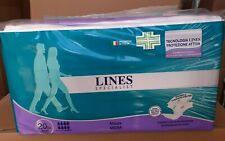 80 pannoloni  mutandina lines specialist maxi misura media x adulti