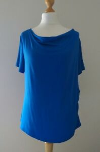 BHS Royal Blue Top Size 18 VISCOSE | Side Crunch Effect Excellent Quality