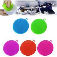Amazing Silicone Dish Towel Kitchen Household Dish Cloth Color Random V1H3