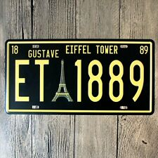 VINTAGE- RETRO - CHIC- METAL WALL SIGN- PLAQUE- EIFFEL TOWER  -NUMBER PLATE- 397