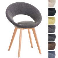 Chaise salle à manger TIMM tissu design scandinave bois clair salon cuisine neuf