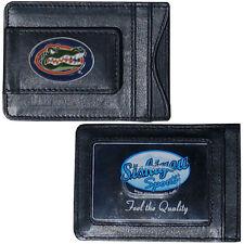 Florida Gators Fine Leather Money Clip ID Card Cash Holder Wallet NCAA Licensed