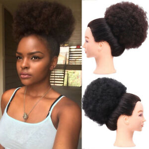 """6"""" 8"""" Afro Ponytail Puff Drawstring Wrap Curly Hair Updo Chignon Hair Extensions"""
