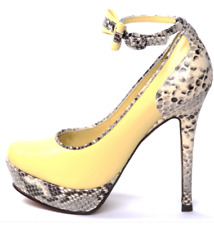 pale yellow & snakeskin maryjane platforms Cheryl Cole for stylist Pick size 4