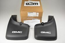 2001-2006 GMC Sierra with Wheel Flares Rear Molded Mud Flaps GMC Logo new OEM
