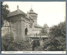 Allemagne, Nürnberg, Partie beim Frauentor Vintage print.  Tirage argentique