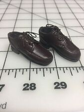 "Triad Toys 1/6 WITSEC Figure Brown Real Leather Shoes 12"" Figures"