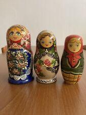Matrioska russa originale vintage - Set X 3