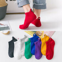 Women Kawaii Embroidered Funny Expression  Candy Color Low Cut Short Ankle Socks