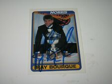 RAY BOURQUE SIGNED AUTOGRAPHED 1990 O-PEE-CHEE OPC CARD #475 NORRIS CARD BRUINS