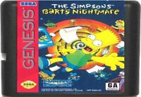 The Simpsons: Bart's Nightmare (1993) 16 Bit Game Card For Sega Genesis System