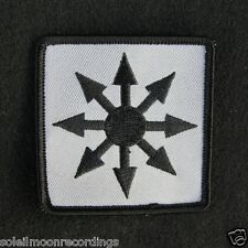 COIL arrows logo patch - john balance scatology chaos black sun star logo 11916