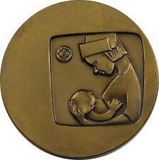 Large Vintage Jewish Israel Medal 1966 Hadassah Hospital