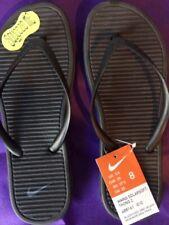 Women's Nike SOLARSOFT THONG 2 Flip Flops Sandals  488161 090 Black Grey SIZE 8