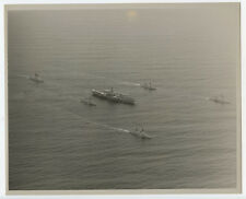 1970s 8x10 Original US Navy Aerial Photo of USS Midway CV-41 & Destroyers