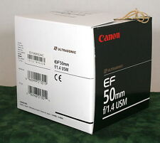 Canon ef 50mm, f1.4 USM Lens Box  NO LENS or ACCESSORIES INCLUDED