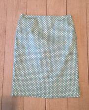 Talbots Cotton Blue White Printed Pencil Skirt Size 6