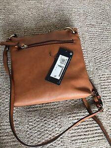 M&S 'Collection' small Brown Tan crossbody/shoulder bag