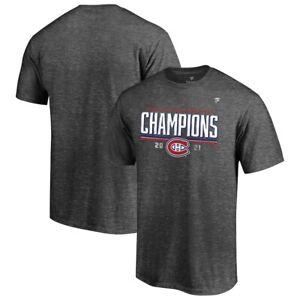 Men's Montreal Canadiens Grey LR 2021 Stanley Cup Semi Finals Champions T Shirt