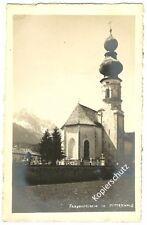 Alte AK Friedhofkirche in Mittenwald   ca.30er J. GEBRAUCHT UN-GELAUFEN