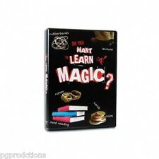 DO YOU WANT TO LEARN MAGIC? DVD Beginner 12 Tricks Magician Card Coin Rope How
