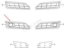 Audi A8 4D Right Side Light Fog Grille 4H0807679PT94 NEW GENUINE 2014