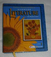Glencoe Literature Readers Choice Course 1 English 2000 HC Teacher Edition