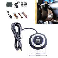 One Button Engine Start Car Vibration Alarm System Security Ignition Push Remote