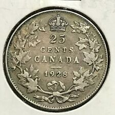 Canada 25 Cents KM 24a VF 1928