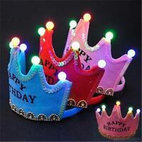 Couronne Fête D'anniversaire LED Lumière Chapeau Chapeau Tiara Pour Enfant Adult