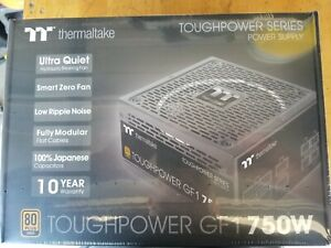 Thermaltake Toughpower GF1 750W Modular Power Supply Unit, Hydraulic Bearing Fan