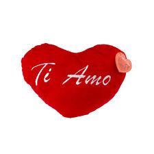 Cuore Rosso in Peluche Ti Amo regalo per San Valentino Amore 26cm