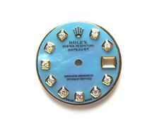 Blue Mop Custom Diamond Dials Rolex Lady's Datejust Two Tone Ice