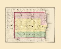 Alcona County Michigan - Walling 1873 - 23.00 x 28.30