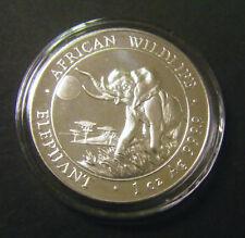 2016 Somalian African Elephant 1oz Silver Bullion Coin 100 Schillings