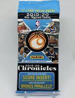 2019-20 Panini Chronicles NBA Basketball 15-card Value Hanger Cello Fat Pack
