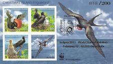 Christmas Island 2010 WWF Frigatebird MS - INDIPEX 2011 WORLD STAMP EXPO - VFMNH