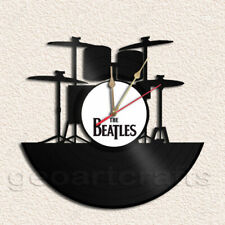 Beatles Drum Set Wall Clock Vinyl Record Clock Upcycled Gift Idea