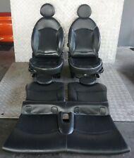 BMW Mini Cooper Uno R56 Calentado Sports Completo Cuero Negro Asientos