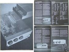 CYRUS HIFI BROCHURE 1985 AMPLIFIER TUNER
