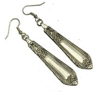 Spoon Earrings Vintage 1937 Wm Rogers Cotillion Silverware Silverplate Jewelry