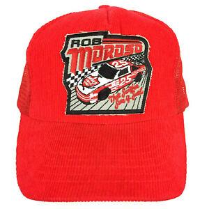 Vtg Rob Moroso Patch Hat Swisher Sweet Nascar Race Snapback Trucker Baseball Cap