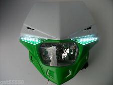 UFO verde camino legal Faro Enduro Streetfighter Kawasaki Kmx Kxf KLX KDX ZXR