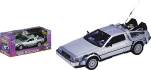 BACK TO THE FUTURE DELOREAN 1:24 SCALE DIE-CAST METAL VEHICLE 1 PC WELLY TOY CAR