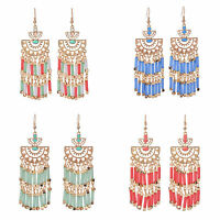 Bohemia Women Fashion Long Tassel Earrings Stud Drop Dangle Earrings Jewelry