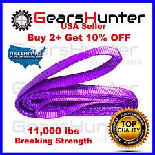 "1"" x 4' 2-Ply Nylon Web Sling Lift Tow Strap Heavy Duty 11000LBS"