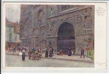AK Wien I, Künstler Ernst Graner, Portal der Stefanskirche 1916