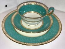 Wedgwood Ulander Powder Turquoise Tea Cup-Saucer-Bread Plate W1503.-C360