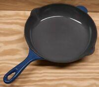 "Le Creuset France 23 Blue 9"" Enameled Cast Iron Enamel Cooking Fry Pan Skillet"